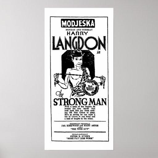 Impressão 1926 do anúncio do filme do vintage de H