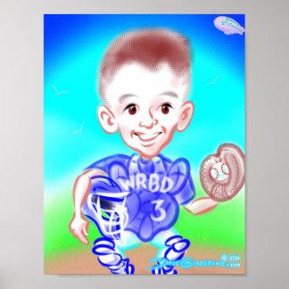 Impressão 2014 da caricatura de Jimmy