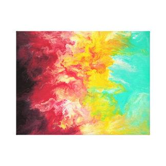 Impressão abstrato das belas artes do arco-íris impressão em tela