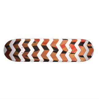 Impressão alaranjado do tigre de Chevron e preto Shape De Skate 20cm