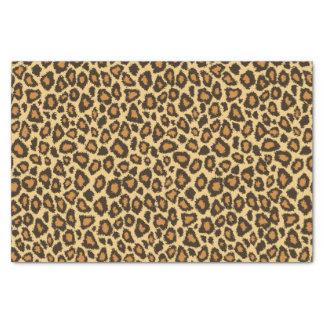 Impressão animal amarelo do leopardo papel de seda