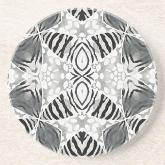 Impressão animal desvanecido porta copos de arenito