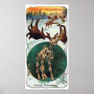 Impressão antigo animal pré-histórico dos cervos i