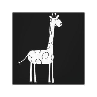 Impressão artístico das canvas do Giraffa preto e Impressão Em Tela