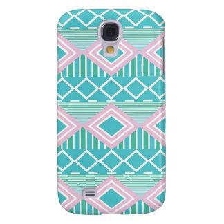 Impressão asteca azul verde roxo galaxy s4 case