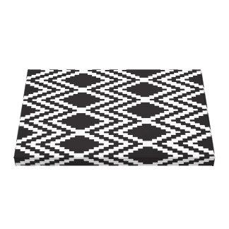 Impressão asteca branco do && preto impressão em tela