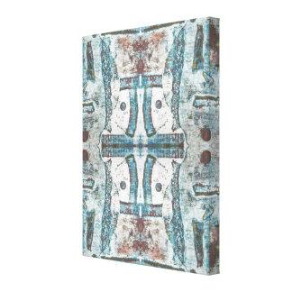 Impressão azul das belas artes do abstrato do