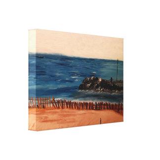 Impressão azul das canvas do Lago Michigan Impressão Em Tela Canvas