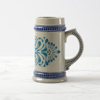 Impressão azul do motivo caneca de cerveja