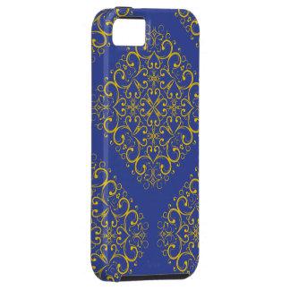 impressão azul do ornamento floral iphone5 do capa para iPhone 5