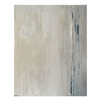 Impressão bege do poster da arte abstracta da