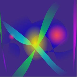 Impressão bonito da arte abstracta dos azuis marin