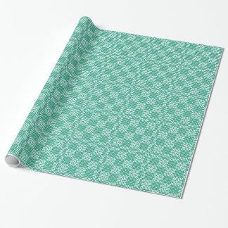 Impressão branco do japonês do verde esmeralda papel de presente