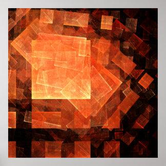 Impressão claro da arte abstracta da janela