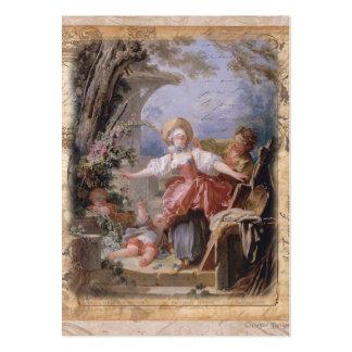 Impressão composto da família do jardim de Fragona Cartao De Visita