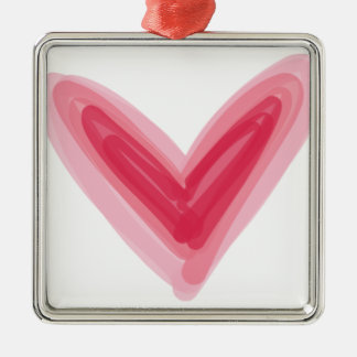 Impressão cor-de-rosa bonito do coração, amor ornamento de metal