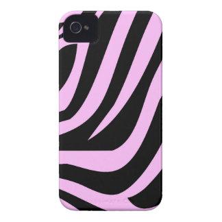 Impressão cor-de-rosa chique da zebra capas para iPhone 4 Case-Mate