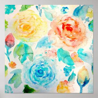 Impressão cor-de-rosa da arte do abstrato da