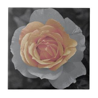 Impressão cor-de-rosa das flores da laranja azulejos