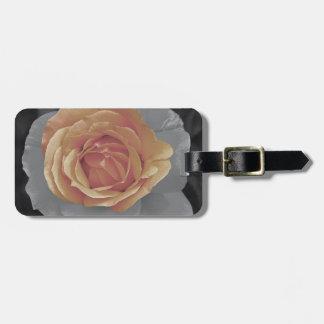 Impressão cor-de-rosa das flores da laranja tag de mala