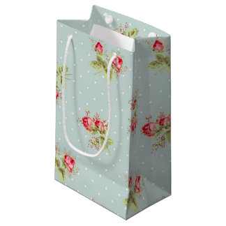 Impressão cor-de-rosa do papel de parede do saco sacola para presentes pequena