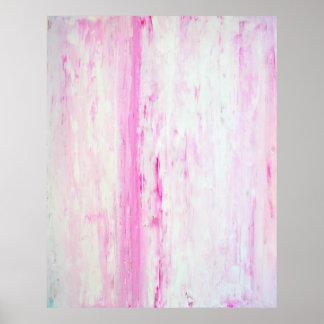 Impressão cor-de-rosa do poster da arte abstracta