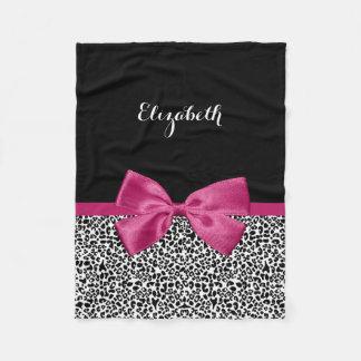 Impressão cor-de-rosa escuro Vivacious do leopardo Cobertor De Lã
