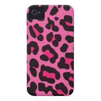 Impressão cor-de-rosa feminino do leopardo capas para iPhone 4 Case-Mate