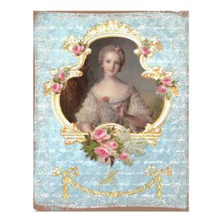 Impressão cor-de-rosa novo da arte dos rosas da ra flyer 21.59 x 27.94cm