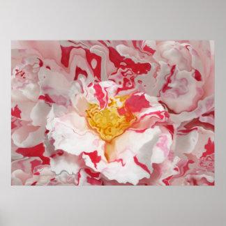 Impressão cor-de-rosa pintado da arte abstracta da