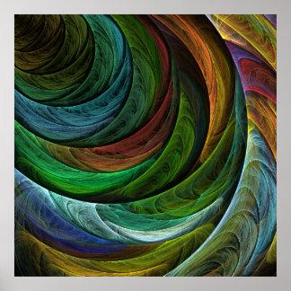 Impressão da arte abstracta da glória da cor