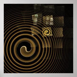 Impressão da arte abstracta da hipnose