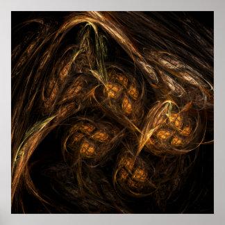 Impressão da arte abstracta da Mãe Terra