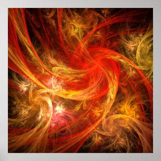 Impressão da arte abstracta da nova do incêndio