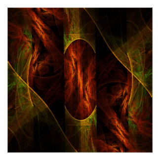 Impressão da arte abstracta da selva da mística