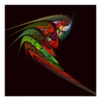 Impressão da arte abstracta do camaleão