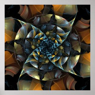 Impressão da arte abstracta do Pinwheel
