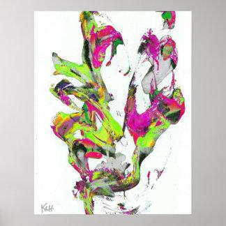 Impressão da arte do Expressionism abstrato do