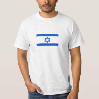 Impressão da bandeira de Israel na camisa Camiseta