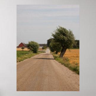 Impressão da foto da estrada secundária