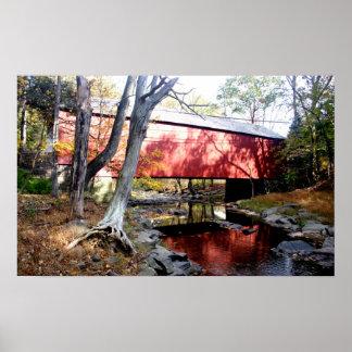 Impressão da foto da ponte coberta