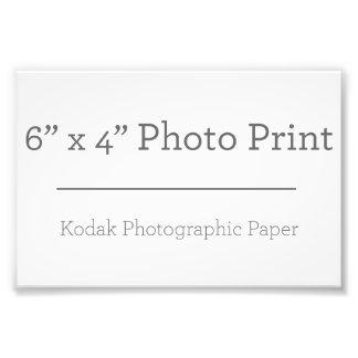 Impressão da foto do costume 6 x 4