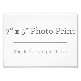 Impressão da foto do costume 7 x 5 impressão de foto