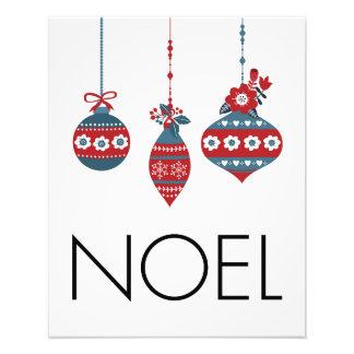 Impressão da foto dos enfeites de natal de Noel Impressão De Foto