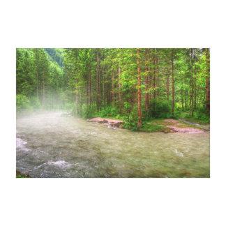 """""""Impressão da fotografia das canvas do rio enevoad Impressão De Canvas Esticadas"""
