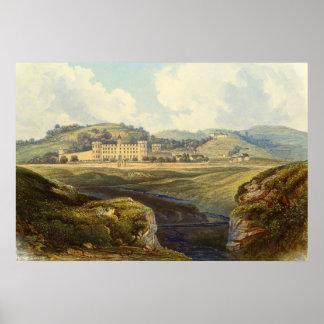 Impressão da paisagem do castelo