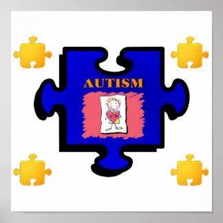 Impressão da parte do quebra-cabeça do autismo