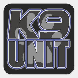 Impressão da pata da unidade da polícia K9 Adesivo Em Forma Quadrada