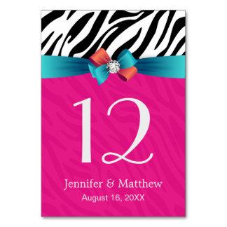Impressão da zebra do rosa quente - cartão do