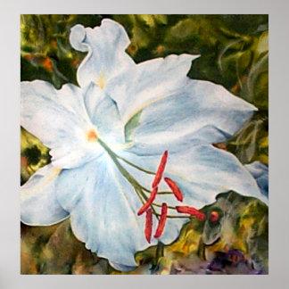 Impressão das belas artes da flor do lírio